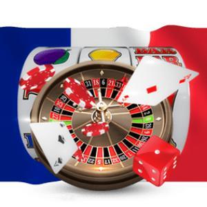 drapeau français cartes dés rouleaux roulette